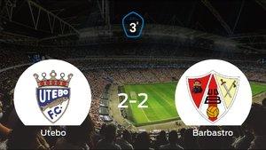 El Barbastro logra un empate a dos frente al Utebo
