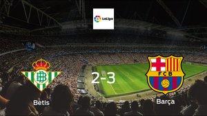 Barça cruise to a 2-3 win over Betis at Benito Villamarin