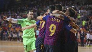 El Barça Lassa ha derrotado con autoridad al Levante en el Palau