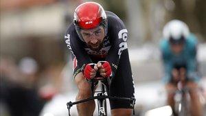 El belga Thomas De Gendt con el maillot del equipo Lotto Soudal