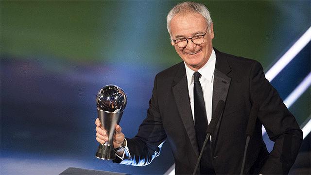 Claudio Ranieri, mejor entrenador de 2016