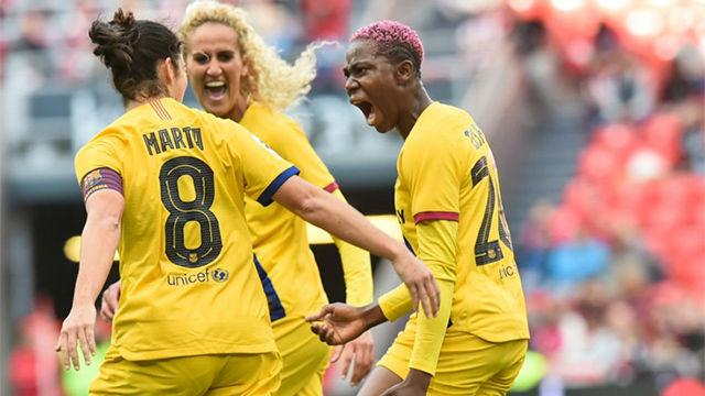 Contundente victoria del Barça Femenino en San Mamés