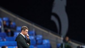 El entrenador terminó agradecido con la entrega de sus jugadores