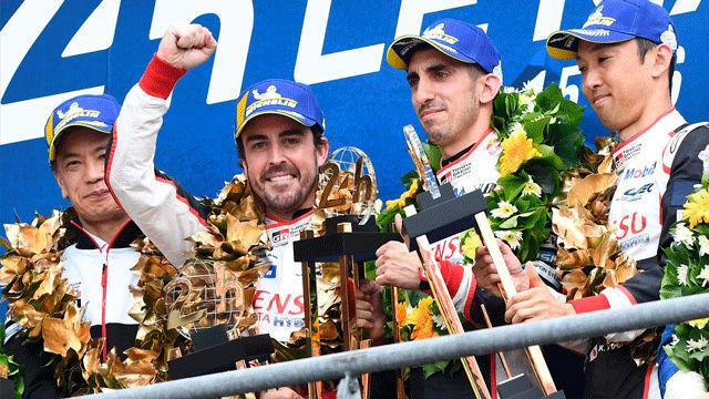 Fernando Alonso gana de nuevo las 24 horas de Le Mans