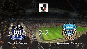El Gamba Osaka y el Kawasaki Frontale suman un punto tras empatar a dos