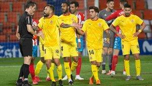 El Girona recibió un duro palo