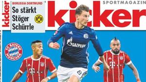Goretzka, Thiago y Arturo Vidal en la portada de Kicker