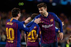 Imágenes del partido de vuelta de cuartos de final de Liga de Campeones entre el FC Barcelona y el Manchester United disputado hoy en el Camp Nou.
