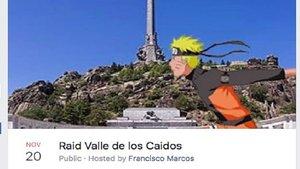 Un internauta crea un evento para invadir el Valle de los Caídos el 20 de noviembre