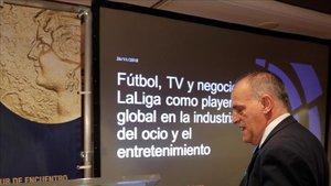 Javier Tebas asume que no habrá Giron - FC Barcelona en Miami