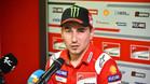 Jorge Lorenzo, en su primera comparecencia pública tras su fichaje por Honda para 2019