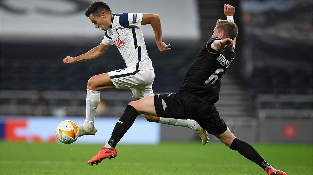 Un jugadón individual de Reguilón inició el segundo gol del Tottenham al LASK