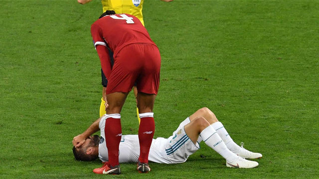 Sergio Ramos sued for injuring Mohamed Salah