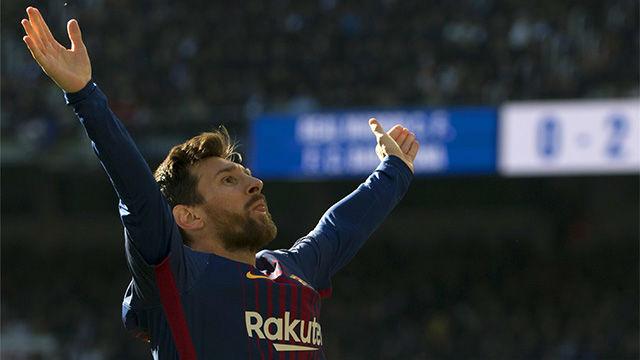 LALIGA | Real Madrid - FC Barcelona (0-3): La celebración de Messi