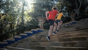 Las escaleras el principal atractivo de la carrera
