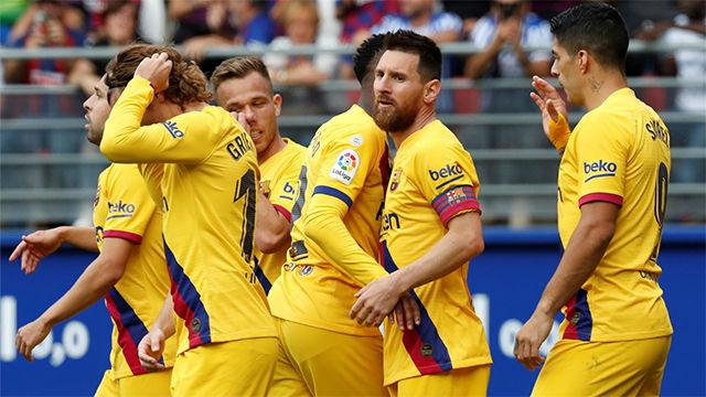 Las notas de los jugadores del Barça ante el Eibar
