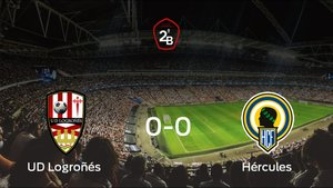 El Logroñés y el Hércules empatan a cero en la vuelta de los playoff