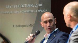 Luis Rubiales durante el 14º Congreso jurídico de la Abogacía