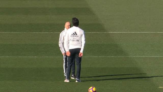 El Madrid se entrenó por última vez antes de medirse al Girona