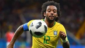 Marcelo, defensa de la selección de Brasil