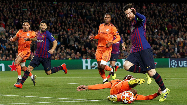 Messi disfrazó a Denayer de Boateng para anotar el mejor gol de la noche