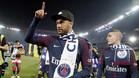 Neymar celebra la liga con el PSG