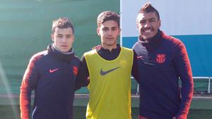 Nils, junto a Coutinho y Paulinho