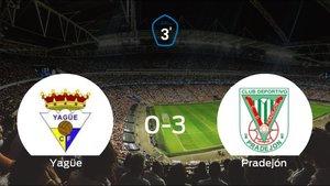 El Pradejón se queda con los tres puntos frente al Yagüe (0-3)