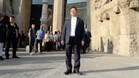 El presidente del Espanyol, Chen Yansheng, en la Sagrada Familia