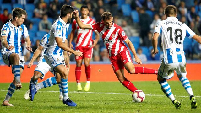 La Real Sociedad y el Girona no pasan del empate a cero