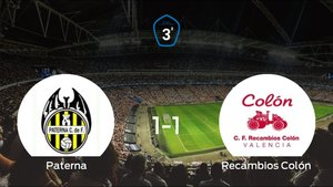 Reparto de puntos en el Municipal Gerardo Salvador: Paterna1-1 Recambios Colón