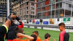 Riqui Puig, en una visita al Campus Nike de Andorra