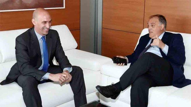Javier Tebas y Luis Rubiales no se vieron este martes en la reunión RFEF-LFP por el convenio de coordinacion