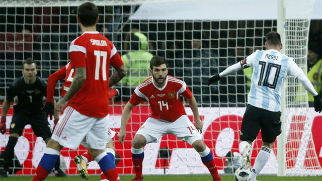 Rusia - Argentina: Messi tuvo una clara ocasión de gol