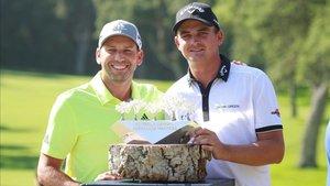 Sergio García, con el ganador del año pasado, el sudafricano Bezuidenhout