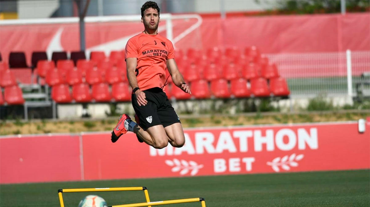 El Sevilla también ha pisado el césped por primera vez tras el parón