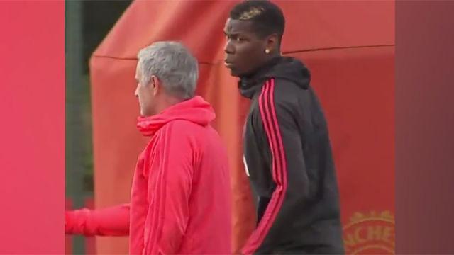 Tensión entre Mourinho y Pogba en el entrenamiento