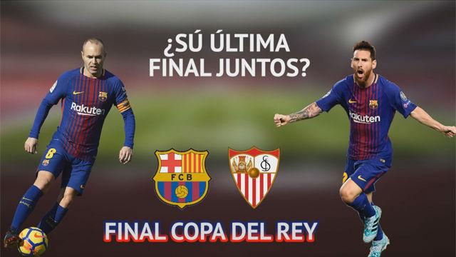 ¿La última final de Messi e Iniesta juntos?