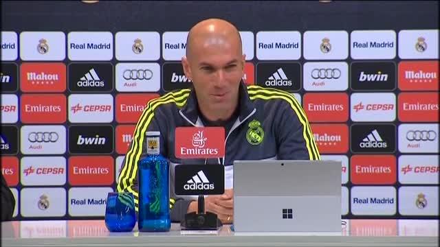 Zidane: Veo a James centrado