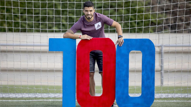 Luis Suárez ha disputado 100 partidos en Liga