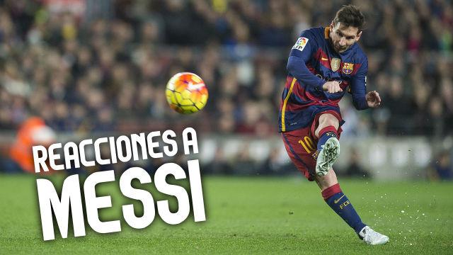 Así reaccionan los aficionados del Barça a los mejores goles de falta de Leo Messi