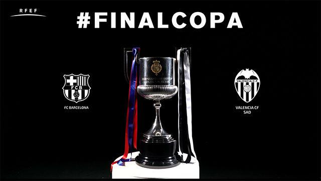 Así será el trofeo de la Copa del Rey que dispuatarán Barça y Valencia