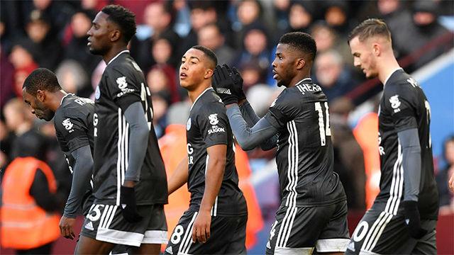 El Aston Vila se lleva una goleada de un Leicester imparable (1-4)