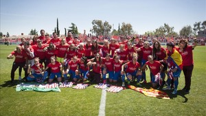 El Atlético de Madrid, vigente campeón de la Liga Iberdrola