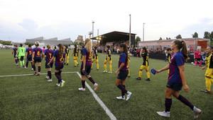 El Barça femenino, en un partido de pretemporada