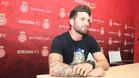 Carles Planas, en su presentación como nuevo jugador del Girona
