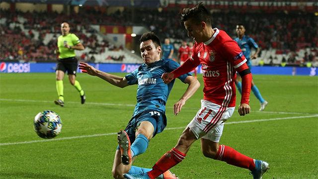 Cervi finalizó con gol una gran jugada del Benfica