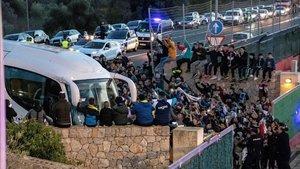 Cientos de aficionados colapsaron Son Bibiloni para ver a la Argentina de Messi