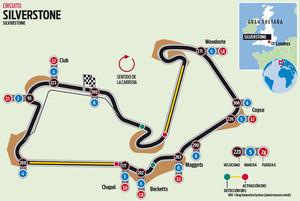 El circuito de Silverstone del GP de Gran Bretaña