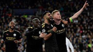 El City celebró por todo lo alto la victoria